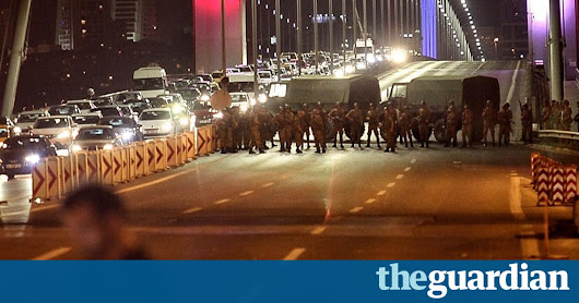 Turkey coup fails as Erdoğan says military traitors must pay – live news updates | World news | The Guardian