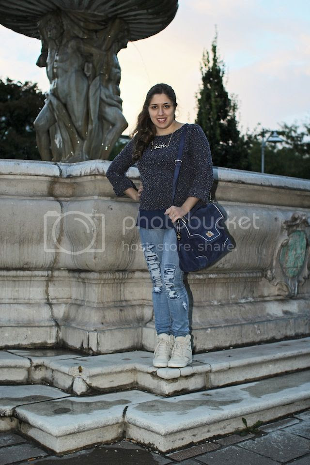 fashion blogger Austria Choies clothes hm tally weijl Space Yarn Dye Jumper With Dipped Hem Topshop wedge sneakers prune argentina handbag cartera prüne