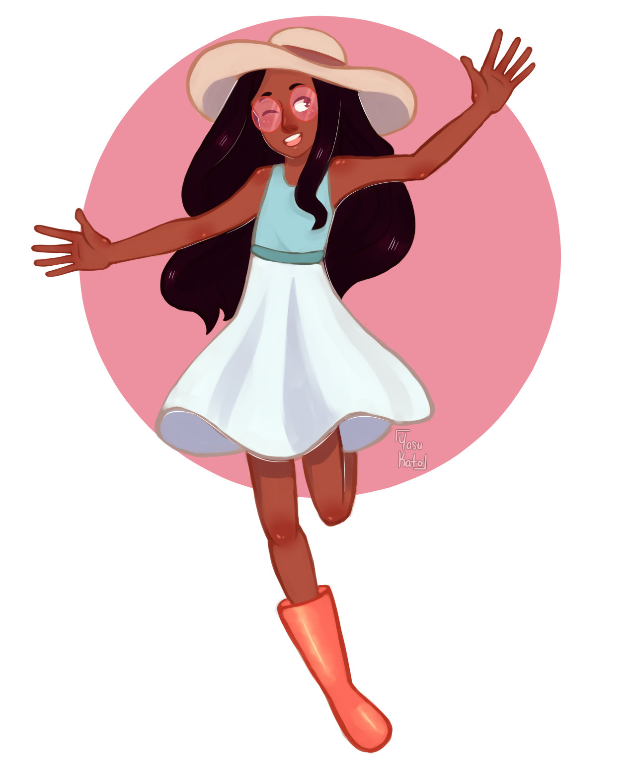 A wild Connie appears! *when I finally figured out how to draw children