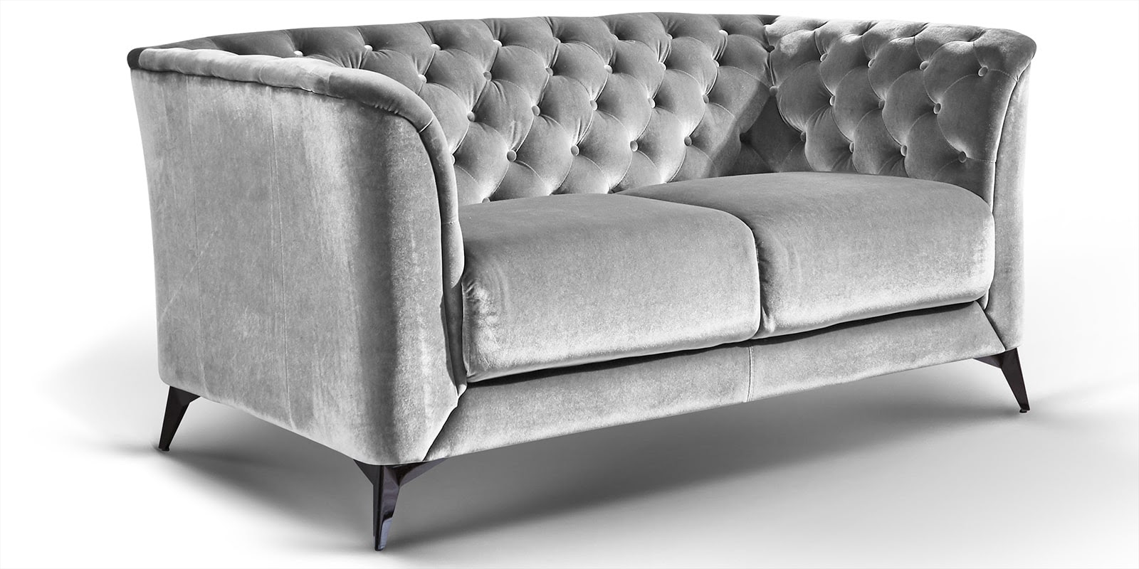 Chesterfield Sofa Grau Samt 2er Set Leder Couch Graue 2 ...