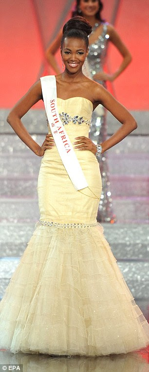 Miss South Africa Bokang Ramaredi Montjane looked stunning in her yellow gown