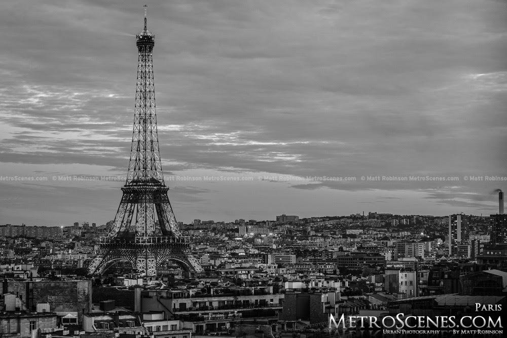 Paris France Black And White Skyline Eiffel Tower Metroscenescom