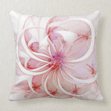 Pink Petals Throw Pillows