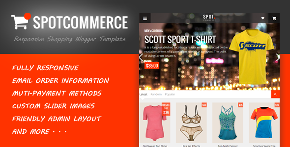 SpotCommerce – Blogger Shopping Template