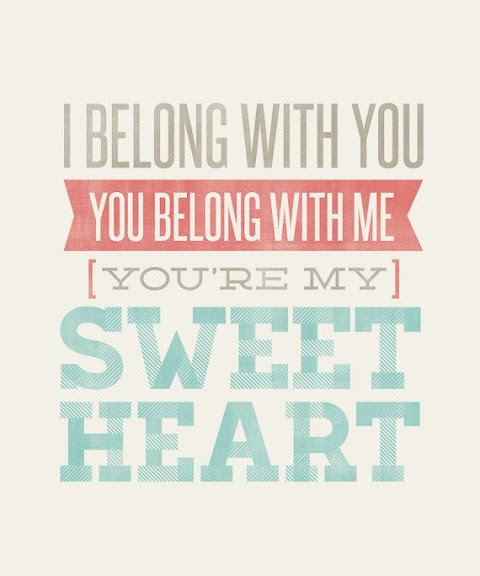 You Belong With Me In My Sweet Home Lyrics