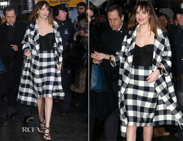Dakota Johnson in Dolce & Gabbana - Late Show With David Letterman