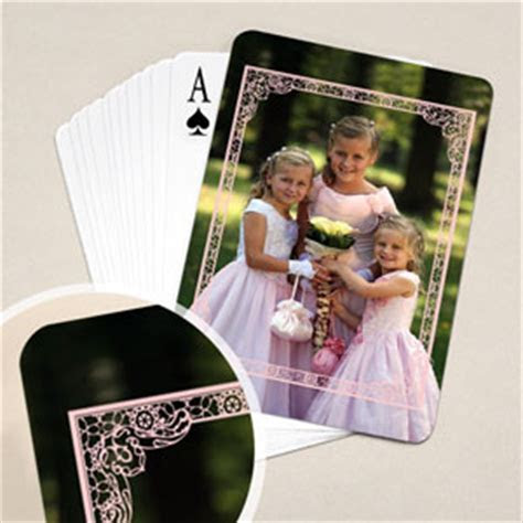 Wedding Anniversary Playing Cards, Pink Frame