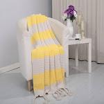 Vintage Luxury Acrylic Throw Blanket 50 x 60 Yellow - Throw 50 x 60 / Yellow