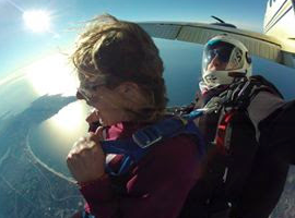 Monterey resident Samantha Melendy made her first tandem skydive last week with Skydive Monterey