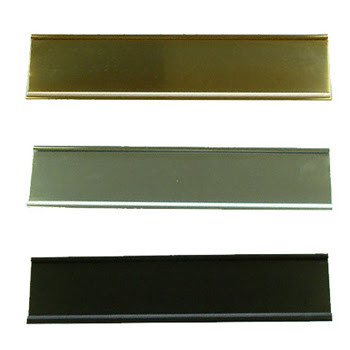 2 X 10 Aluminum Wall Sign Holder Choose Color Gold Silver Or