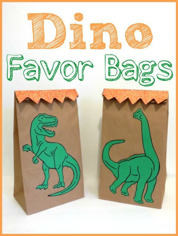 http://blog.melissaanddoug.com/2013/04/09/diy-dinosaur-birthday-party-favor-bags/