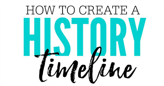 Creating a History Timeline with New School Supplies - My Love For Words