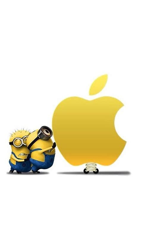 Minions with Apple Logo iPhone 6 / 6 Plus and iPhone 5/4 Wallpapers