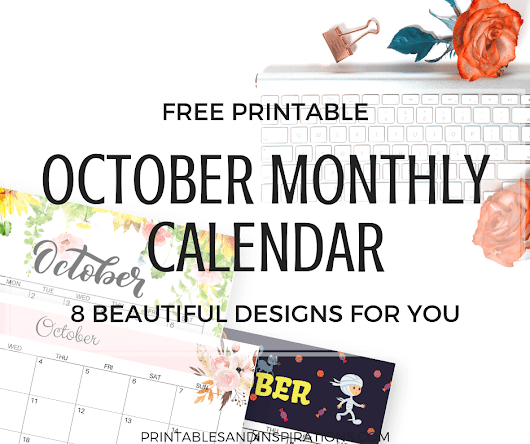 October Calendar 2018 FREE Printable! - Printables and Inspirations