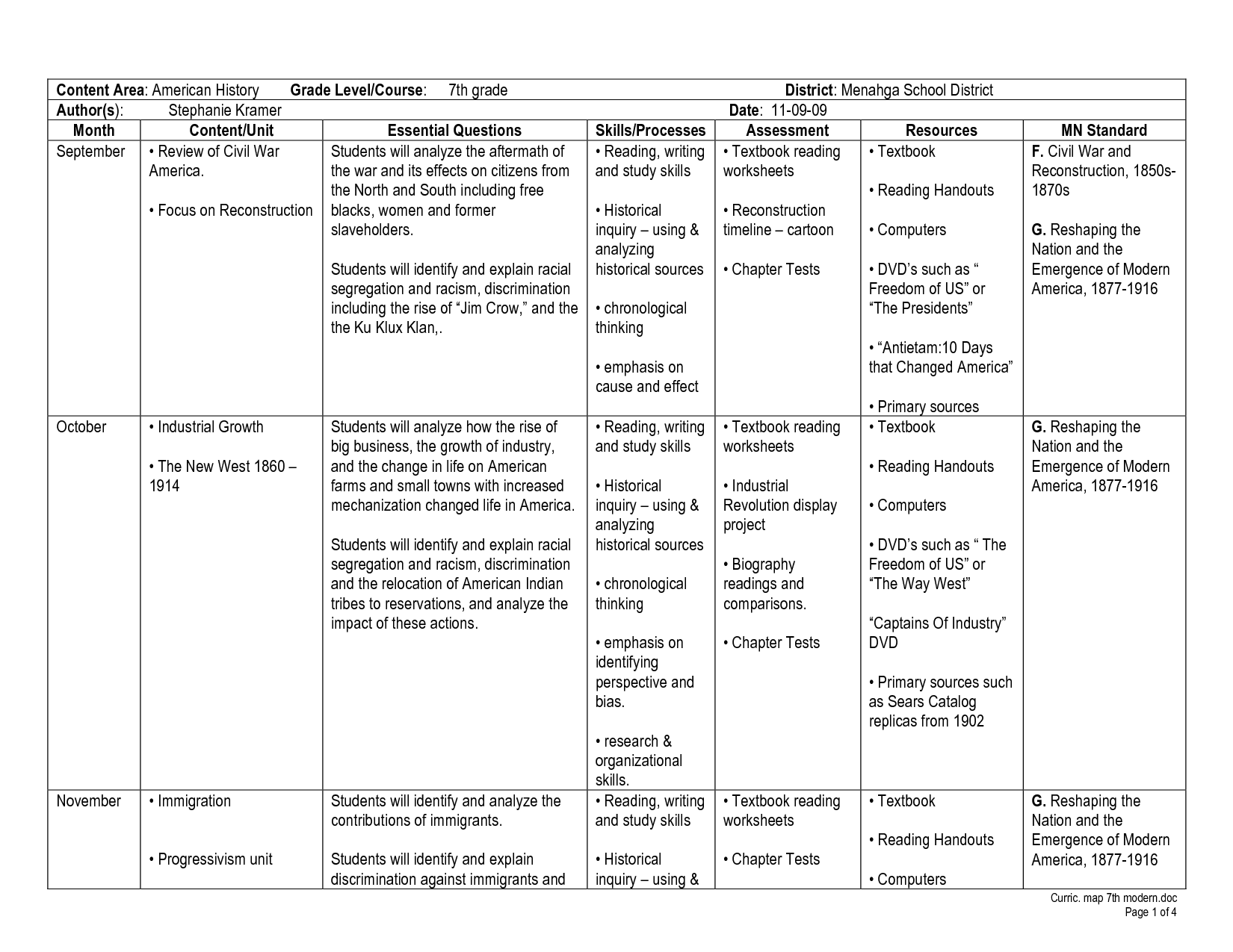 Civil War And Reconstruction Worksheet Answers - Worksheet ...