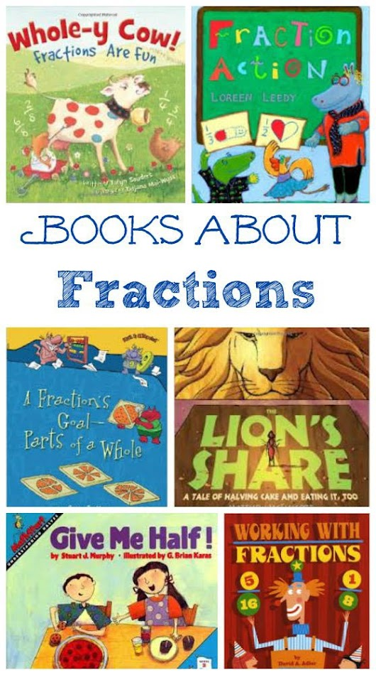 Kids Books about Fractions & Hands-on Math Activities