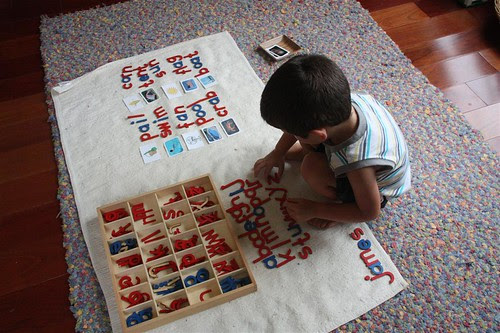 Movable Alphabet Work (Photo from Counting Coconuts)