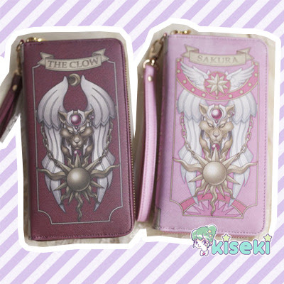 Card Captor Sakura - The Clow Book / Sakura Book Wallet Purse - Fairy Kei, Mahou Kei, Harajuku, Ulzzang, kawaii - FREE SHIPPING