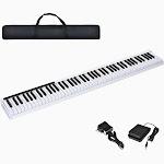88-Key Portable Electronic Piano with Handbag
