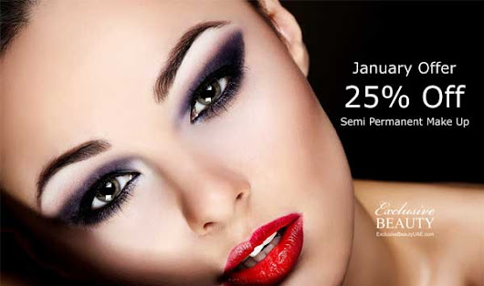25% Off Semi Permanent Make Up - Exclusive Beauty