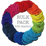 Basic 2mm Ponytail Elastics (Rainbow Assortment) 432 piece Bulk Pack