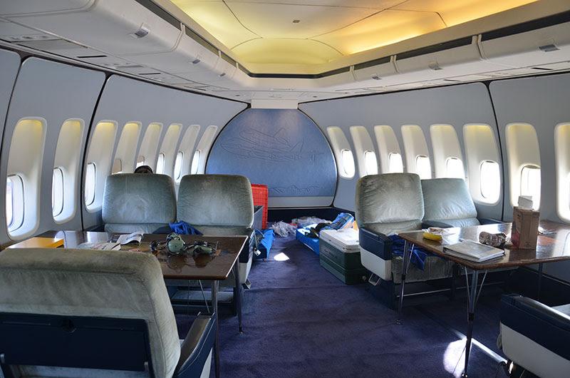 First Class Boeing 747 Interior