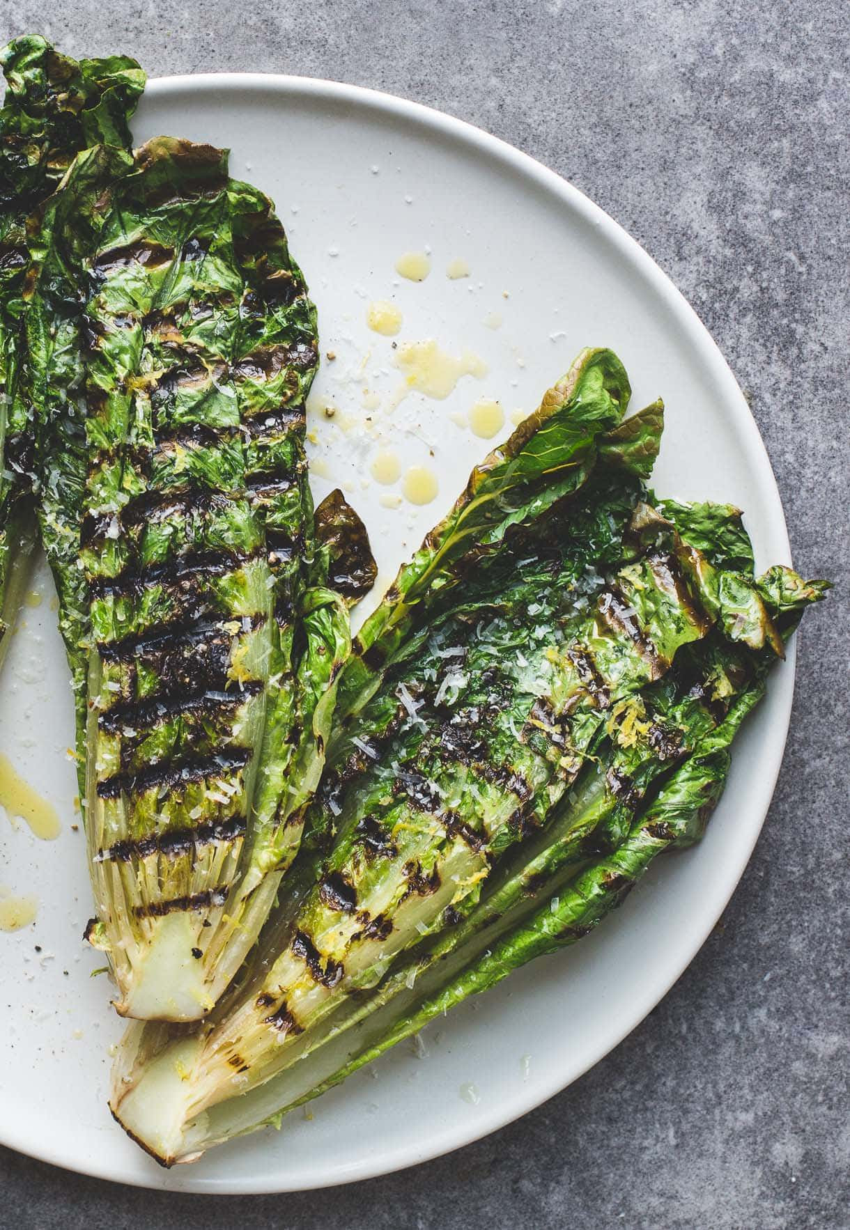 How to Grill Lettuce {video} + Simple Italian Grilled ...