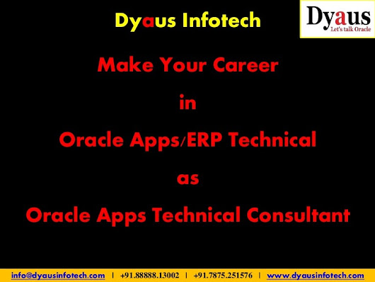 Oracle Apps Technical Training & Placement in Pune Kharadi, Dyaus Inf…