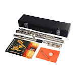 16 Hole C Tone Flute with Cace for Beginner Student - Silver