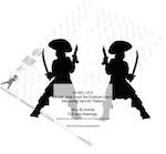 Pirate Jack Scott the Dubloon Devil Silhouette Woodworking Pattern - fee plans from WoodworkersWorkshop® Online Store - ,yard art,painting wood crafts,scrollsawing patterns,drawings,plywood,plywoodworking plans,woodworkers projects,workshop blueprints