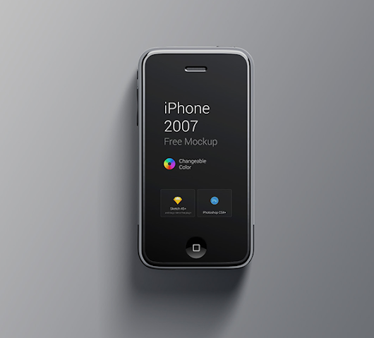 iPhone 1st GEN Free Mockup - PSD & Sketch Download - FreebiesUI