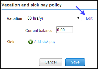 Vacation and sick pay accrual options