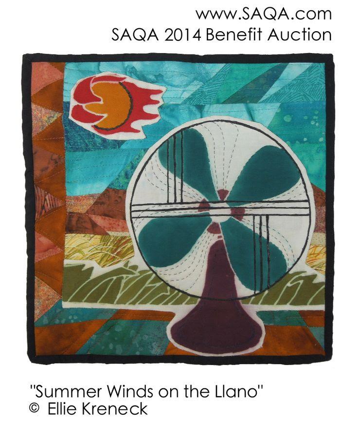 Art quilt by Ellie Kreneck #artquilts #SAQA