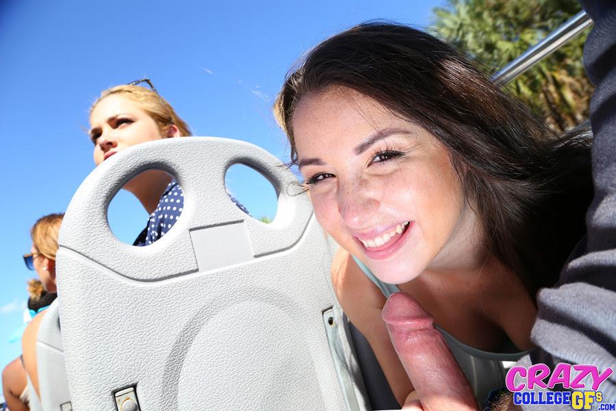 Girl Seduces Stranger Public
