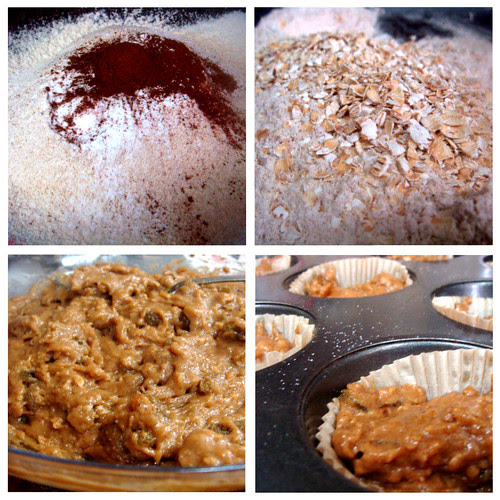 Cinnamon Raisin Muffins collage