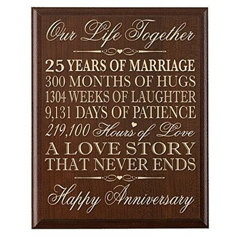 LifeSong Milestones 25th Wedding Anniversary Wall Plaque