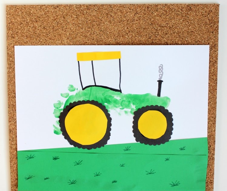 Tractor footprint art for kids the ot toolbox for Tractor art projects