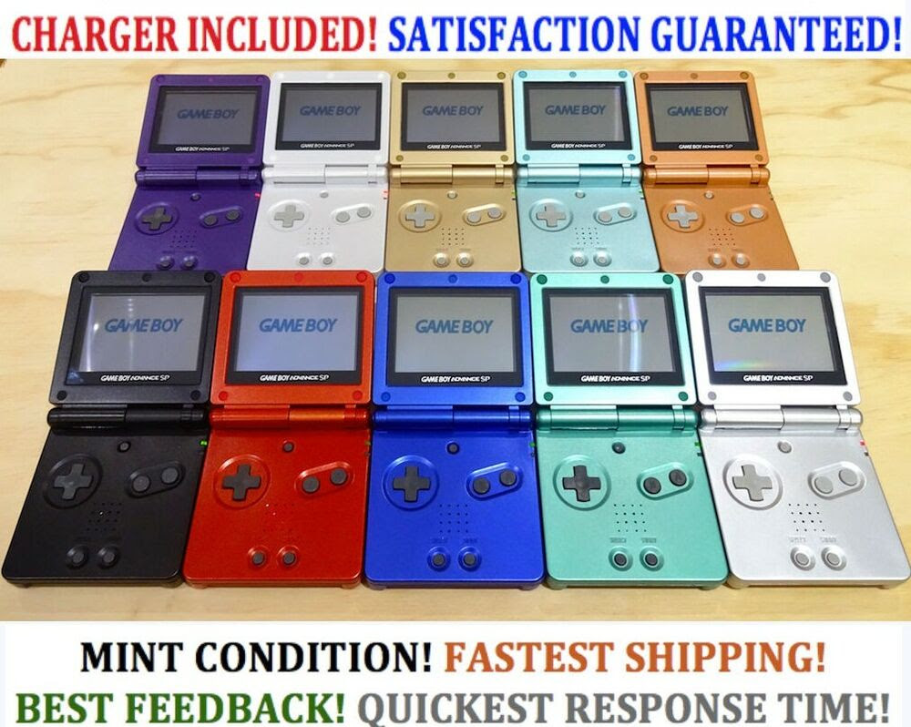 Nintendo Game Boy Advance GBA SP Advance System AGS 001 ...