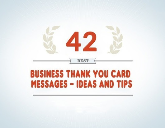 42 Best Business Thank You Card Messages - Samples, Tips and Ideas | Online Marketing