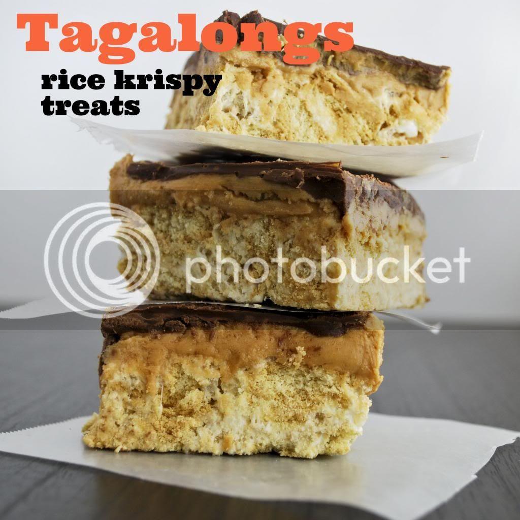Tagalongs Rice Krispy Treats