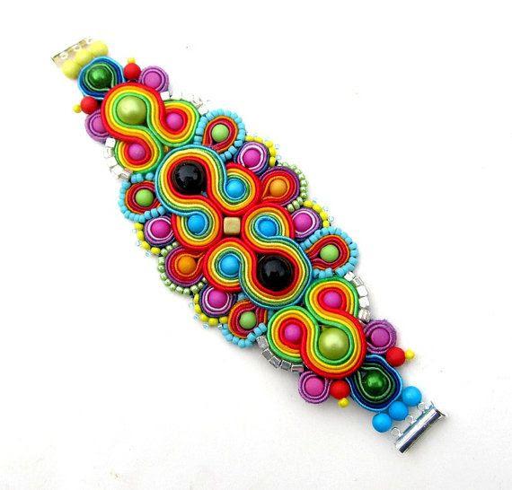 soutache - bracelet  mishtiart.blogspot.com - follow me! :)