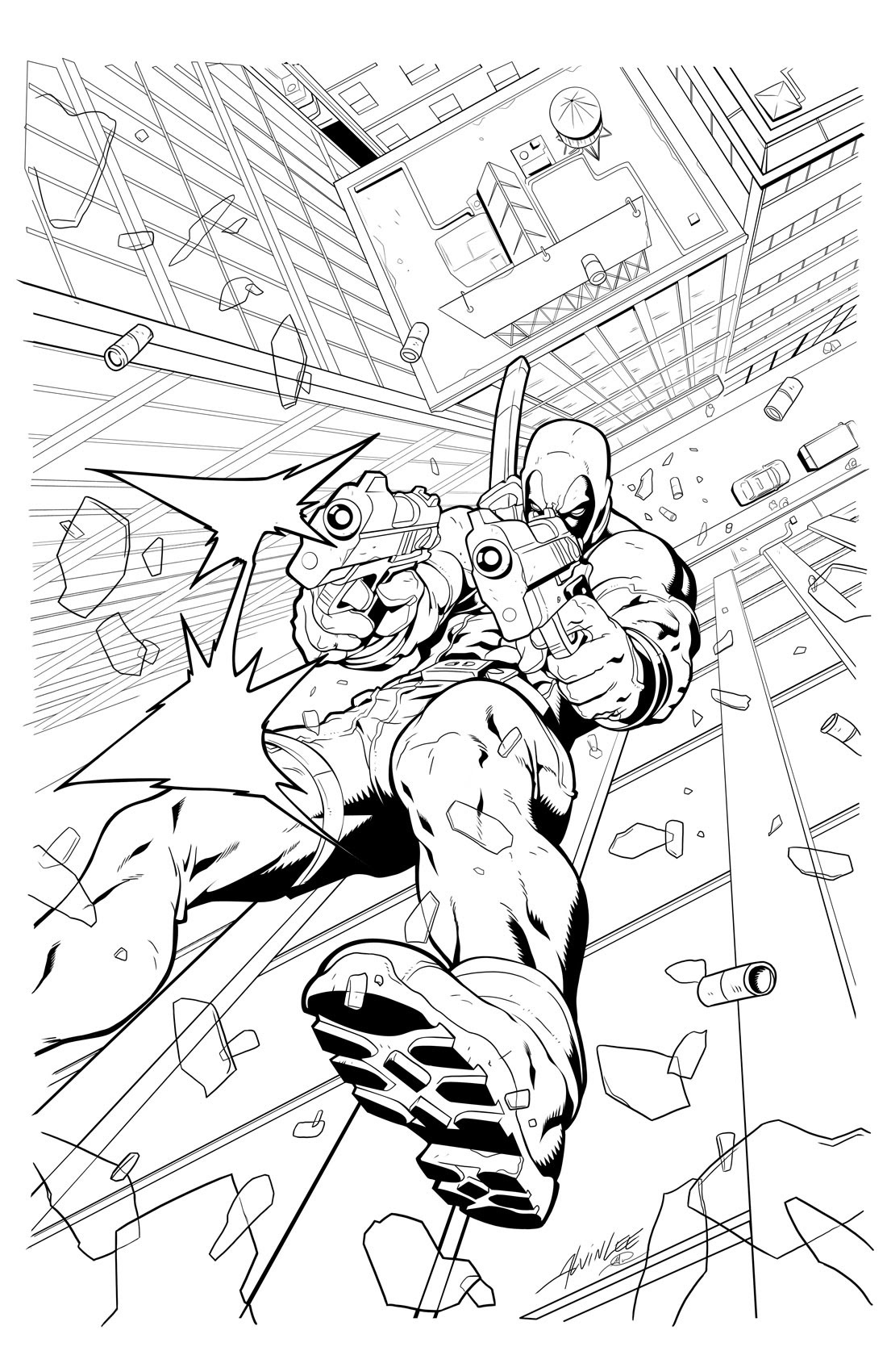 Deadpool Face Coloring Pages To Print Coloring Pages