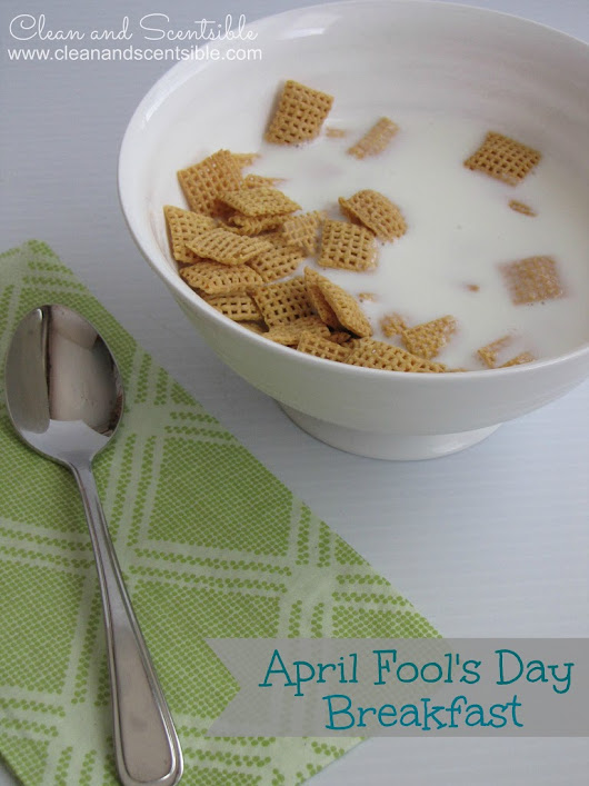 Easy April Fool's Day Breakfast - Clean and Scentsible