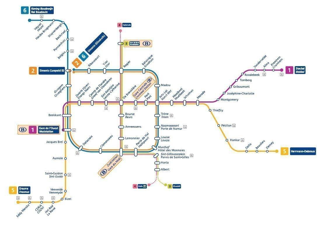 plan metro bruxelles