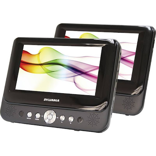 "Sylvania 9"" Dual Screen AC/DC LCD Portable DVD Player SDVD9957"