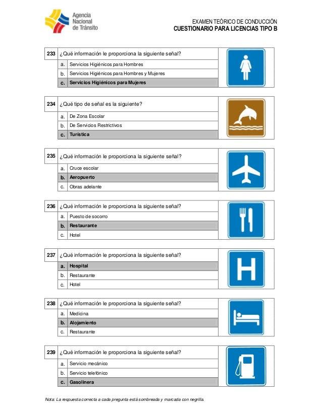 Cuestionario Examen Teorico Licencias Clase C Dinero Urgente Y Facil