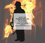 Firefighter Silhouette Woodworking Pattern - fee plans from WoodworkersWorkshop® Online Store - firefighting equipment,firefighters,fireman,firemen,yard art,painting wood crafts,scrollsawing patterns,drawings,plywood,plywoodworking plans,woodworkers projects,workshop blueprints