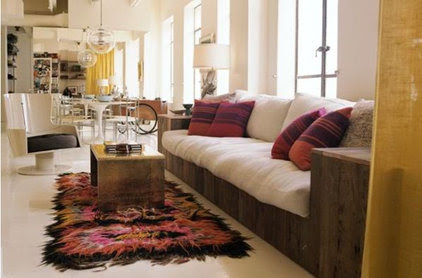 contemporary living room How To Incorporate Tie Dye: Ideas & Inspiration
