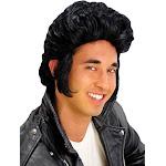 Pompadour Wig - Black - One size fits most adults - Morris Costumes