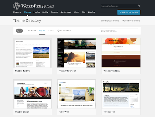 Changing Wordpress Themes - Trilobita Website Development